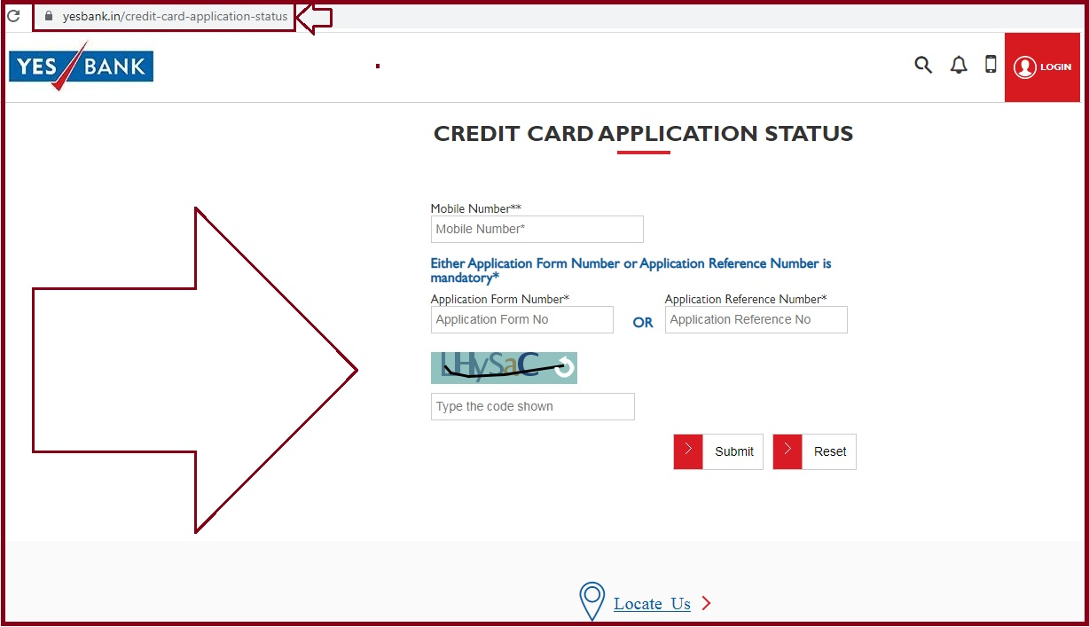 Yes Status of the bank credit card